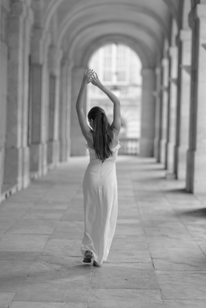 séance photo en noir et blanc