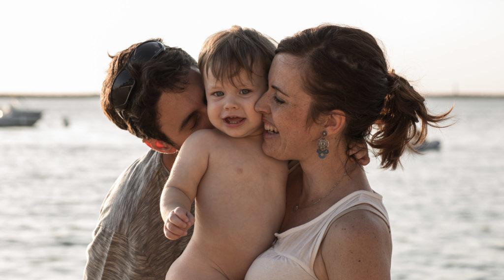 séance photo en famille plage gironde